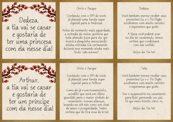 Convite De Padrinhos Diy Diferente!!