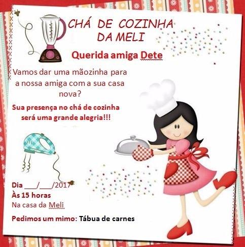 Convites Do Chá De Cozinha  Arte