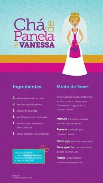 Convite Virtual De Chá De Cozinha Panelas
