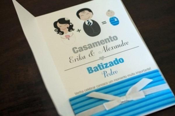 Convite Casamento Batizado
