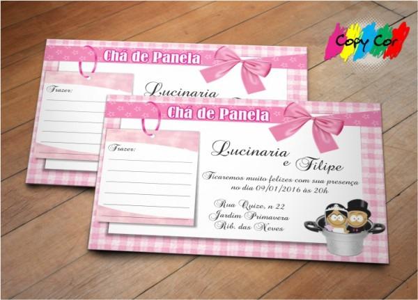 Convite Chá De Panela