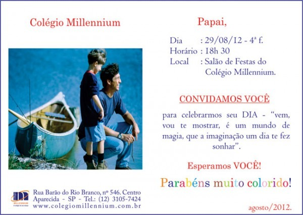 Convite Dia Dos Pais