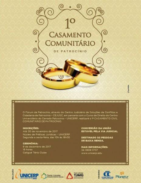 Convite  Casamento Comunitário Vai Acontecer Dia 9 De Dezembro, No