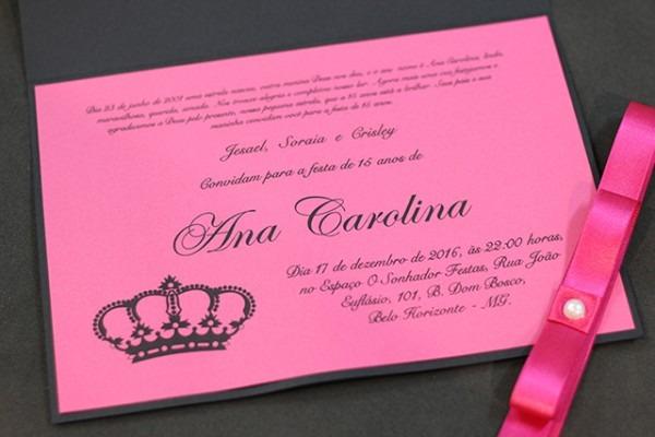 Convites De 15 Anos – Maria Doroteia Convites