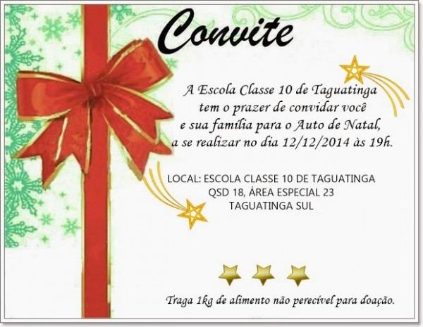 Imagine Um Lugarec10  Convite   Auto De Natal
