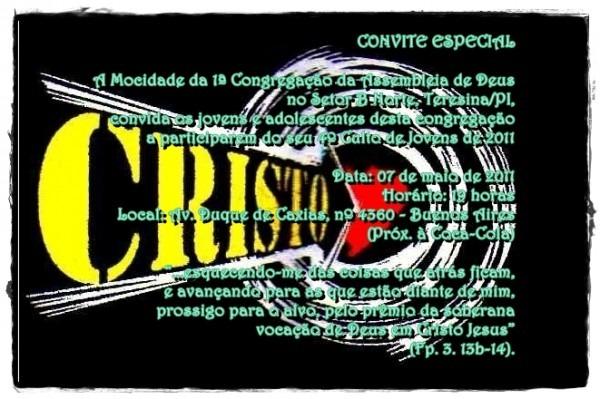 Convite 4º Culto De Jovens 2011!!!