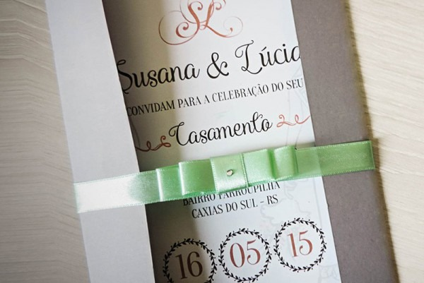 Convite Casamento Lésbico
