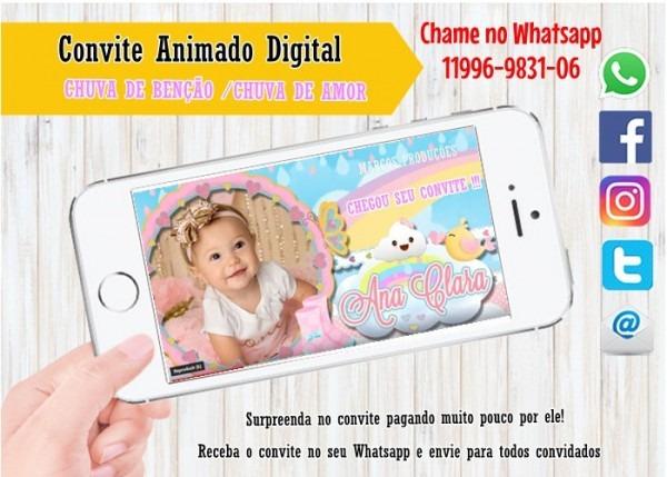 Convite Animado Realeza Luxo Menina