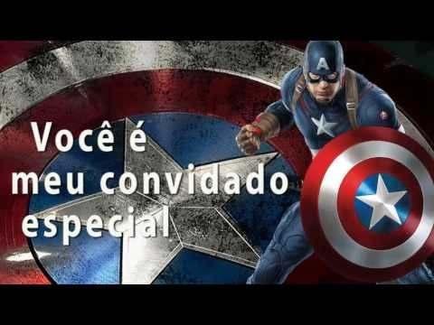 Convite Animado Vingadores   Super Heróis
