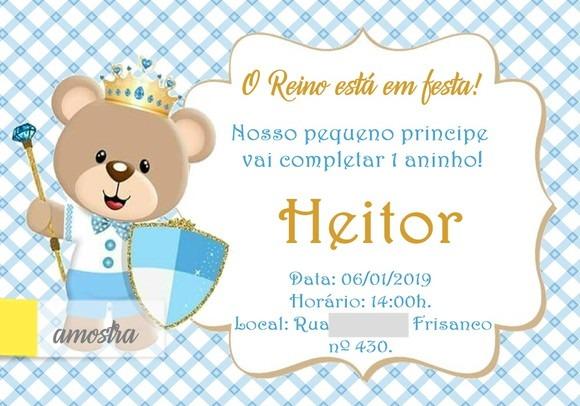 Convite Aniversario 1 Aninho