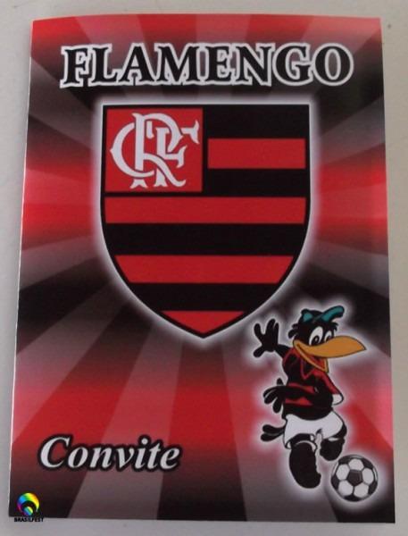 Convite Aniversario Flamengo (10 Convites)