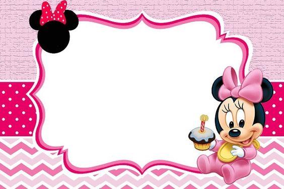 Convite Minnie Rosa – Modelos Para Editar E Imprimir Grátis