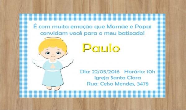 Convite Batizado Frete Grátis No Elo7