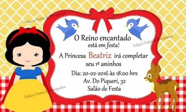 Convite Branca De Neve No Elo7