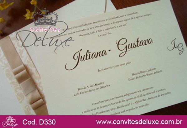 Convite De Casamento Tradicional E Elegante