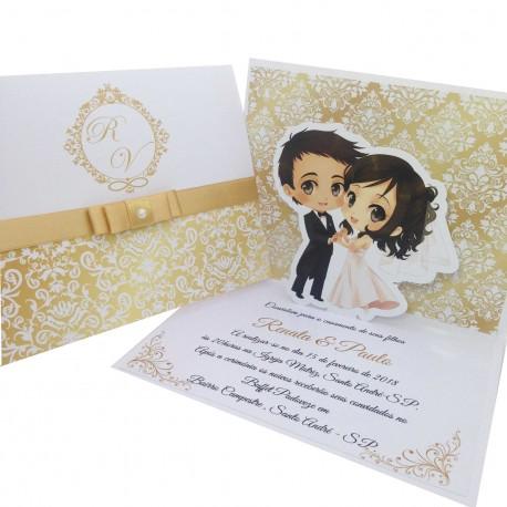 Convite Para Casamento Basico