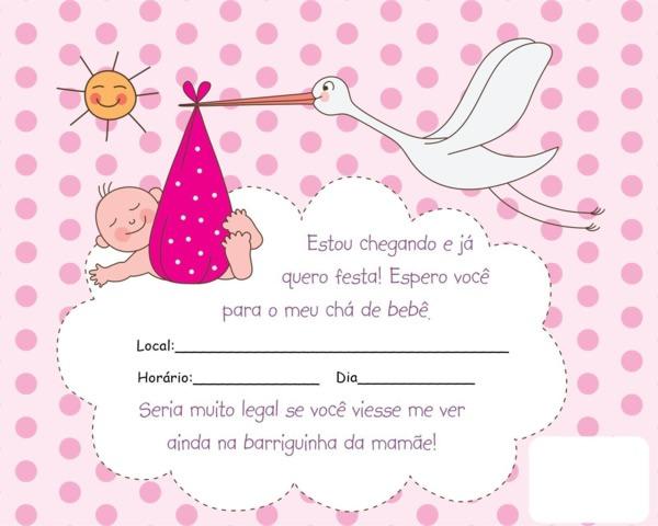 80+ Ideias De Convite Chá De Bebê Menina – Magazine Feminina