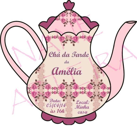 Convite Chá Da Tarde
