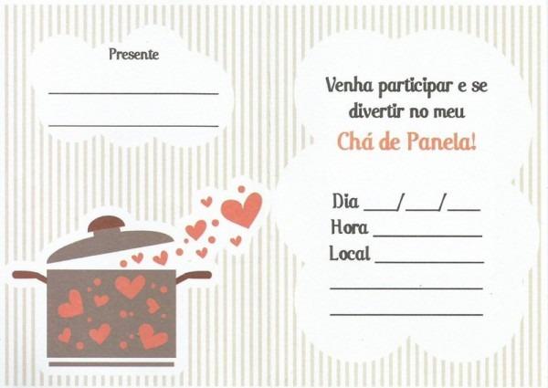 Convites De Chá De Cozinha