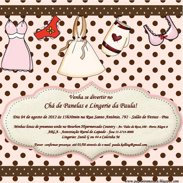Convite Chá De Panela (virtual) No Elo7