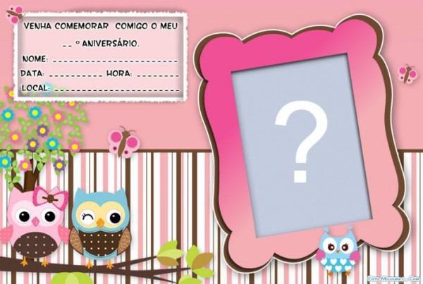 Convite De Aniversario Coruja » Happy Birthday World