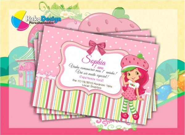 Convite De Aniversario Moranguinho 6 » Happy Birthday World