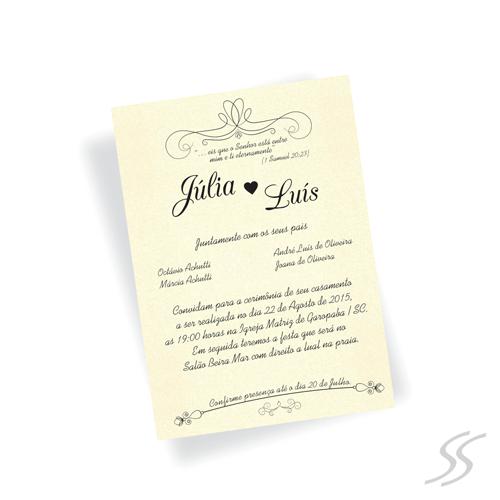 Convite De Casamento Last