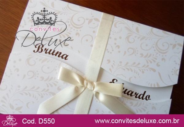Convite De Casamento Clássico E Elegante Com Arabescos