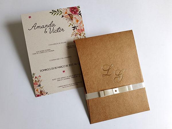 Convite De Casamento Rústico C490