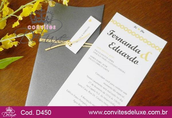 Convite De Casamento Moderno, Criativo E Simples