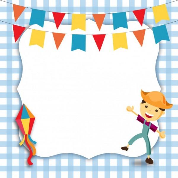 Convite De Festa Junina Do Menino