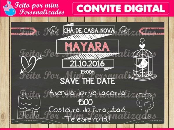 Convite Digital Chá De Casa Nova No Elo7