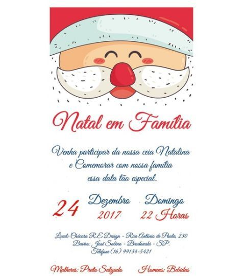 Convite Digital De Natal