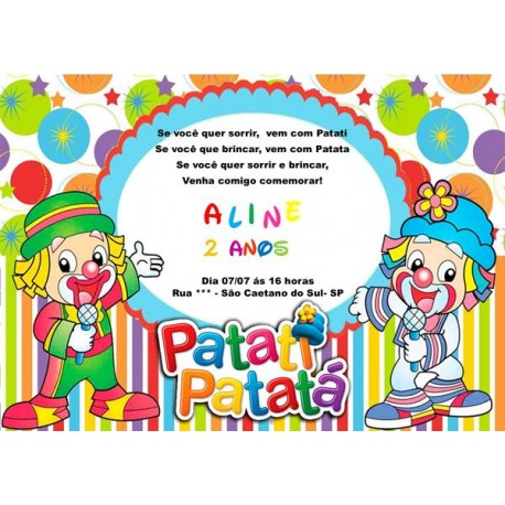 Convite Digital Patati Patatá