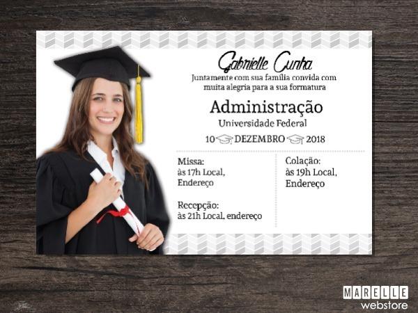 Convite Digital Formatura ~ 15x10