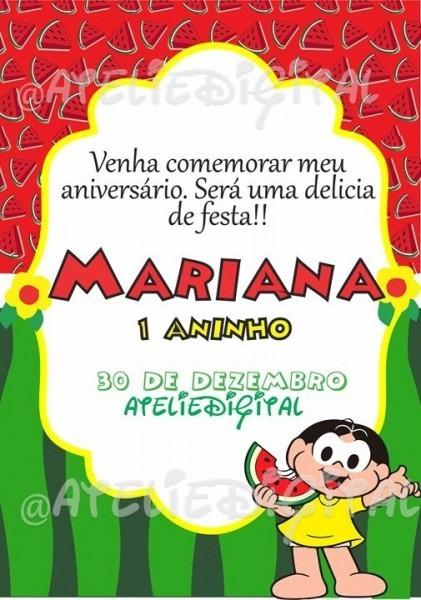 Convite Digital Infantil Magali