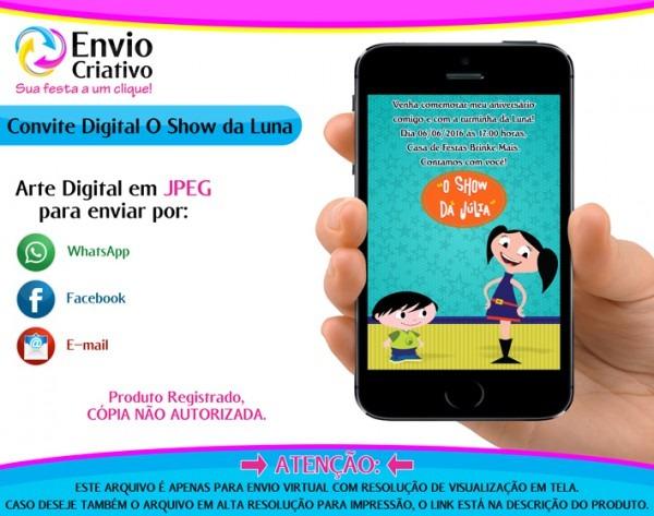 Convite Virtual Show Da Luna Em Aniversário E Festas