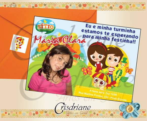 Convite Do Sitio Do Pica Pau Amarelo No Elo7