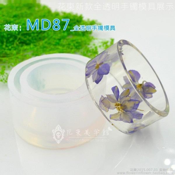 Convite Flor Bangle Mold_md87_handmade Mold _ Transparente