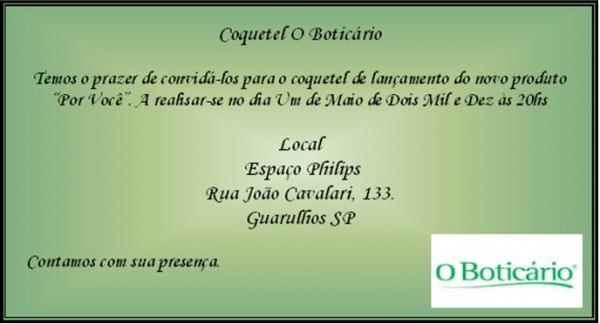 Convite Formal