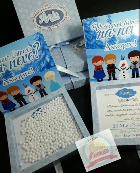 Convite Frozen Assopre