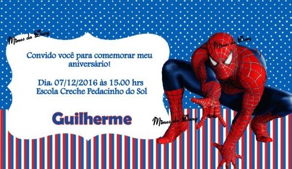 Convite Homem Aranha No Elo7