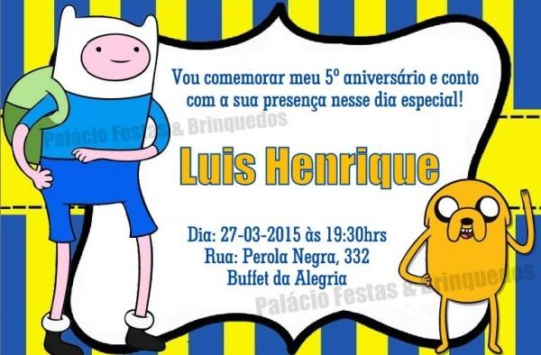 Convite Hora Da Aventura No Elo7