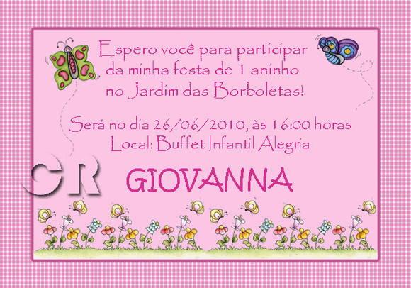 Convite Jardim Das Borboletas No Elo7