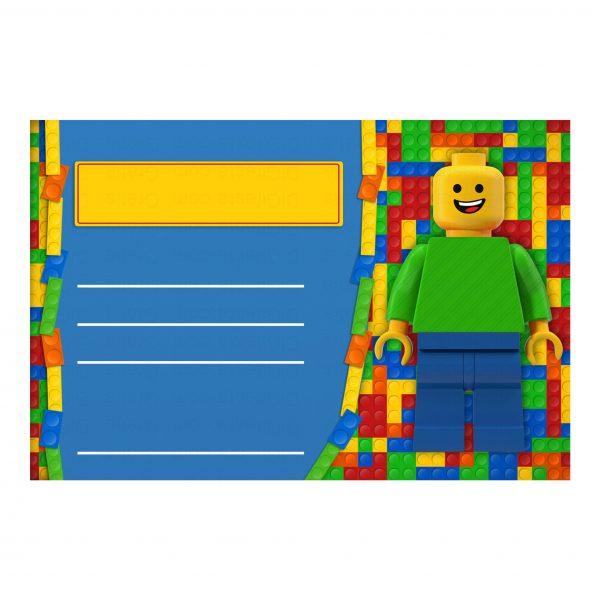Convite Lego Grátis Para Editar E Imprimir