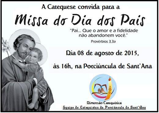 Convite Para Missa Dos Pais Da Catequese « Paróquia Porciúncula De
