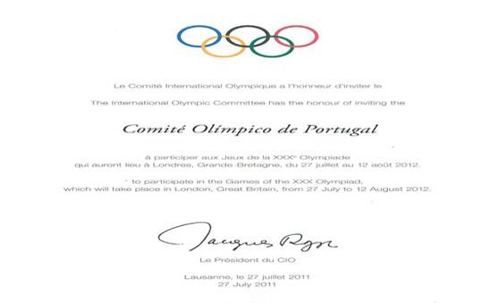 Convite Oficial Do Coi Para Londres 2012