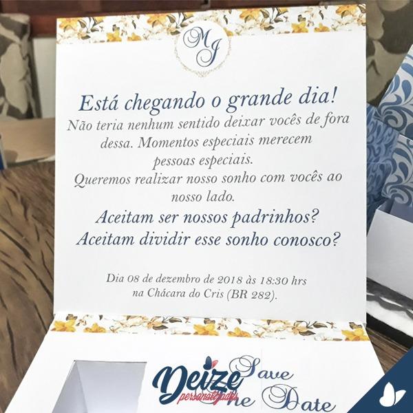 Convite Padrinhos Casamento