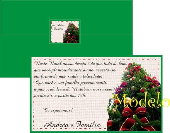 Convite Para Ceia De Natal No Elo7