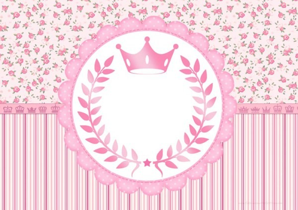 Kit Festa Coroa De Princesa Rosa Floral